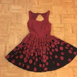LC Lauren Conrad 2 Retro red polka dot dress bow